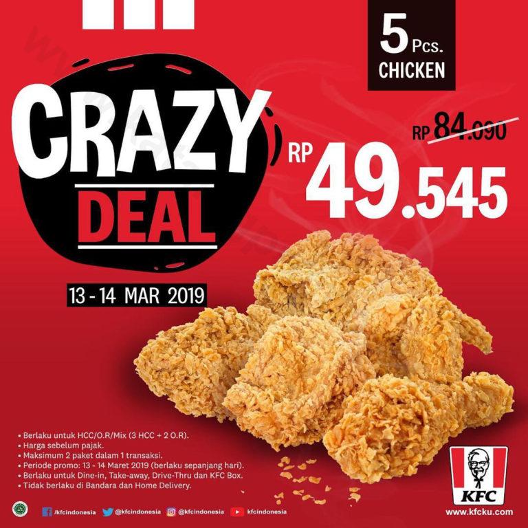KFC CRAZY DEAL – Paket 5 pcs Ayam mulai Rp. 49.545