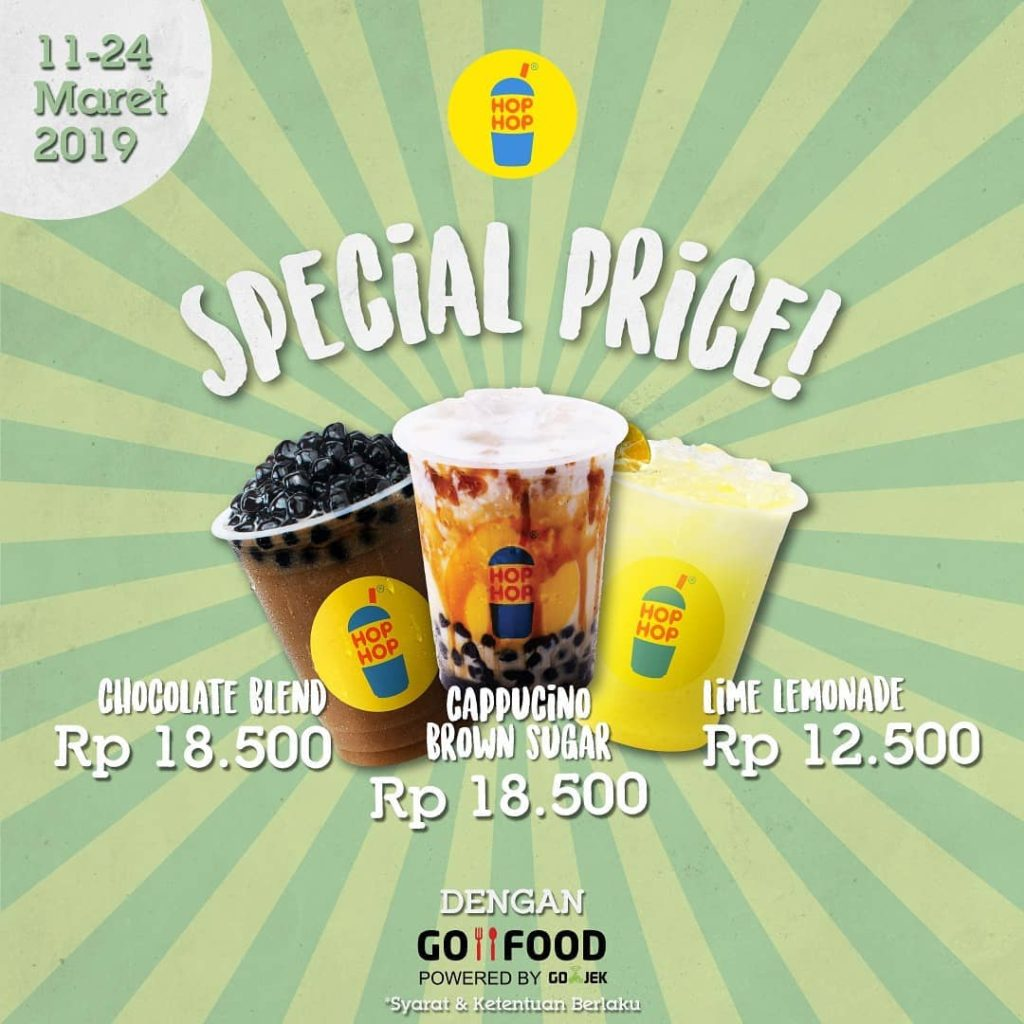 Hop Hop Promo GOFOOD SPECIAL PRICE
