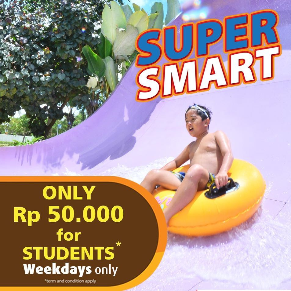 Go Wet Waterpark Promo, Berenang Hemat Hanya Rp. 50.000