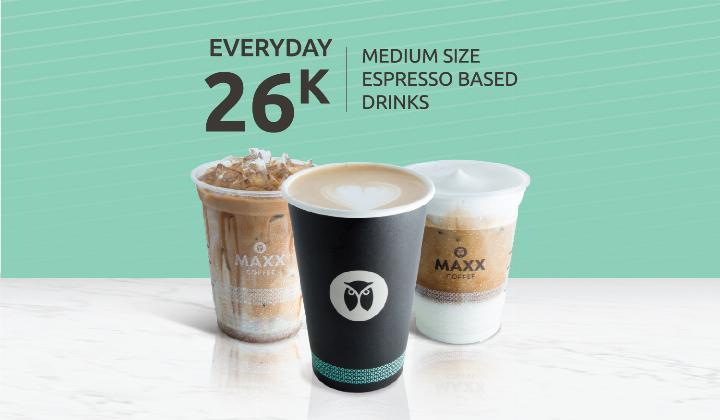 Diskon Maxx Coffee Promo CUMA Rp. 26.000 Dengan OVO