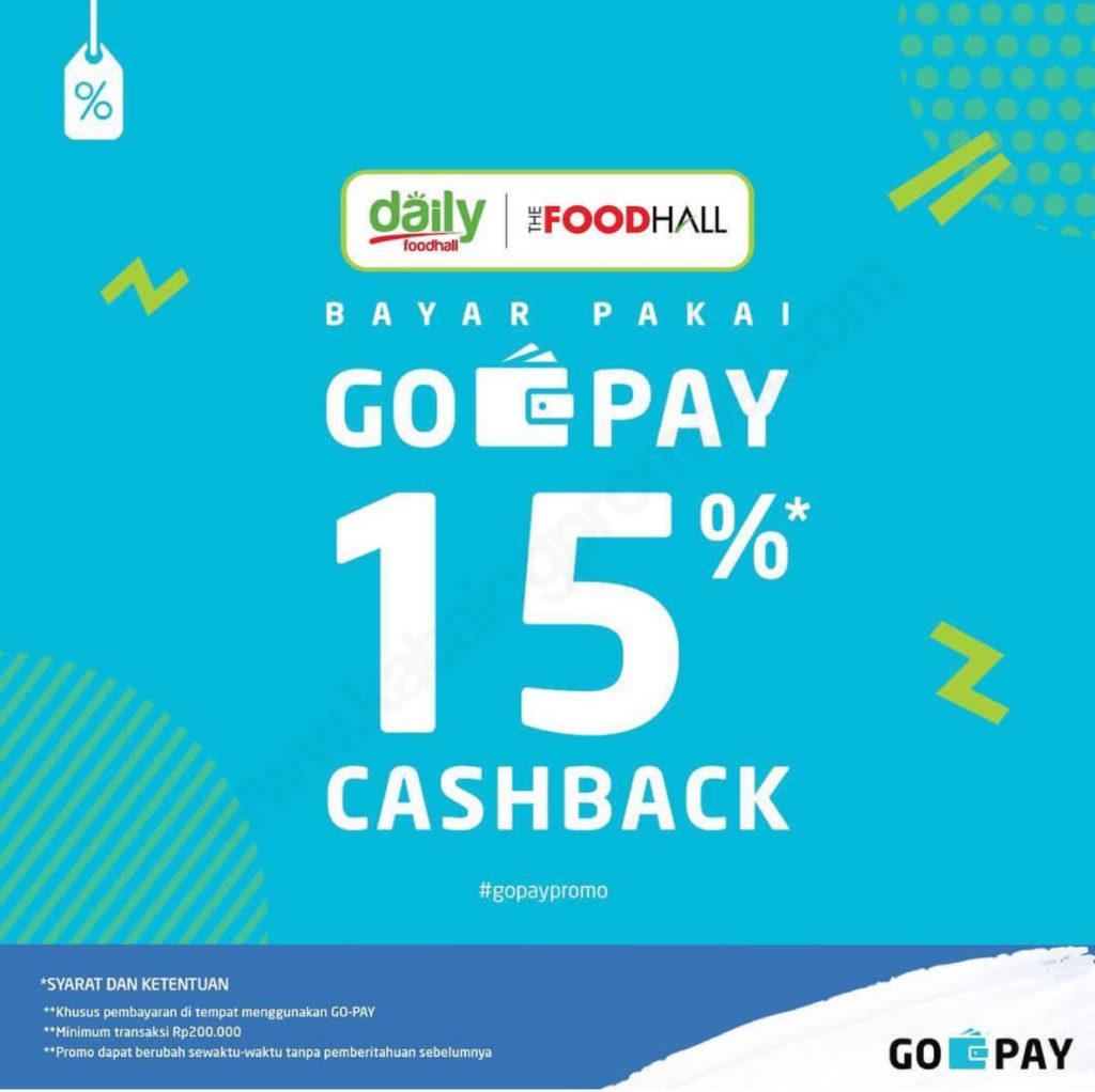 THEFOODHALL Promo CASHBACK 15% dengan GOPAY