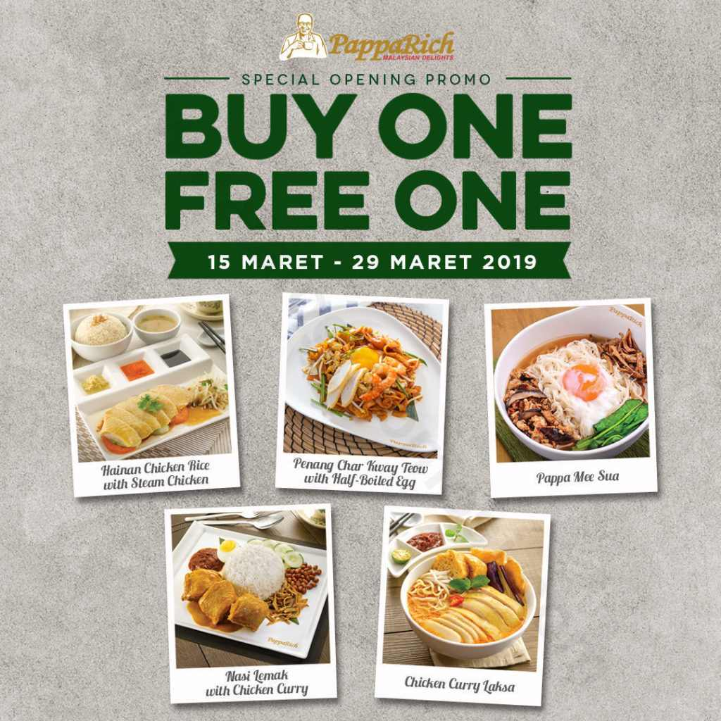 PAPPARICH Promo Buy One Free One