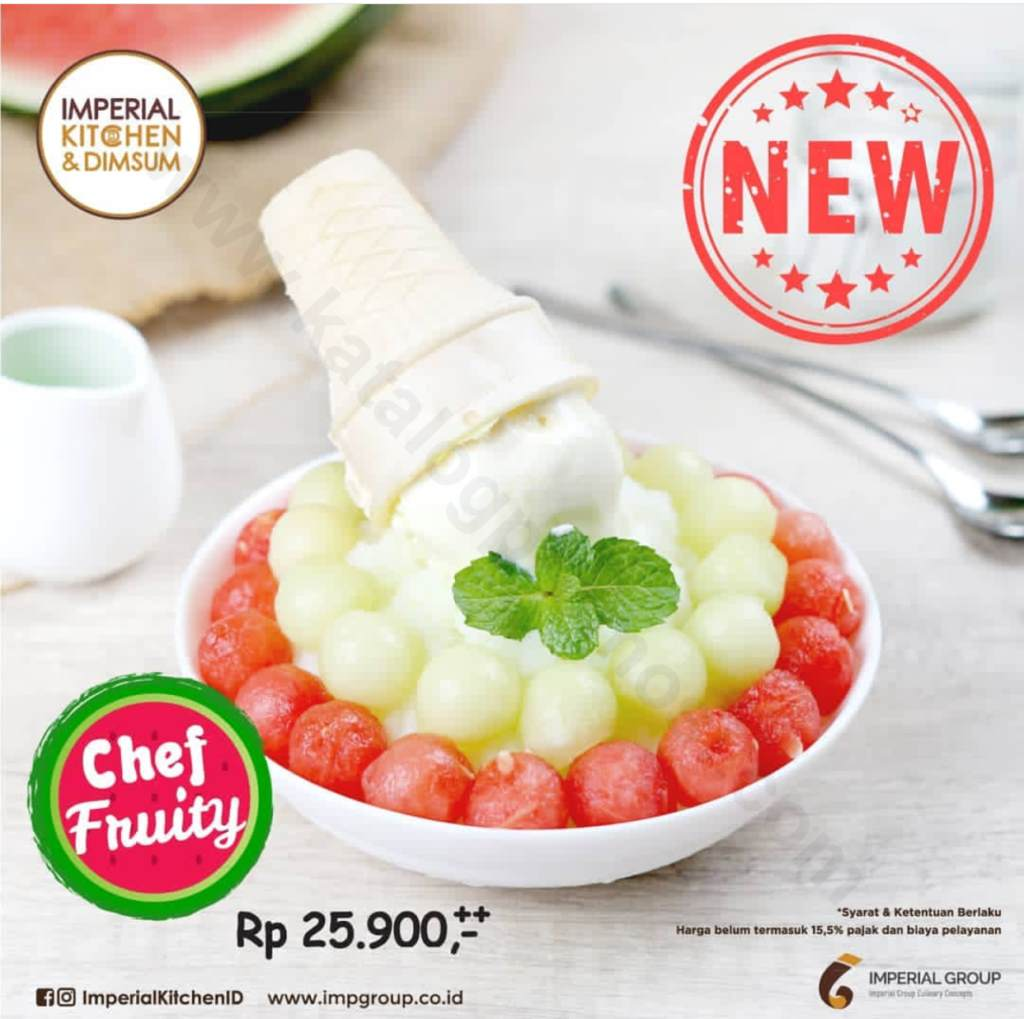 "Diskon IMPERIAL KITCHEN Promo ""Chef Fruity"" only Rp. 25.900++"