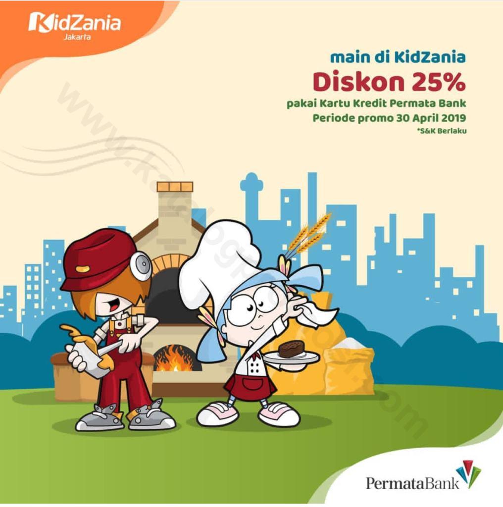 KIDZANIA Promo Diskon 25% dengan Kartu Kredit PermataBank