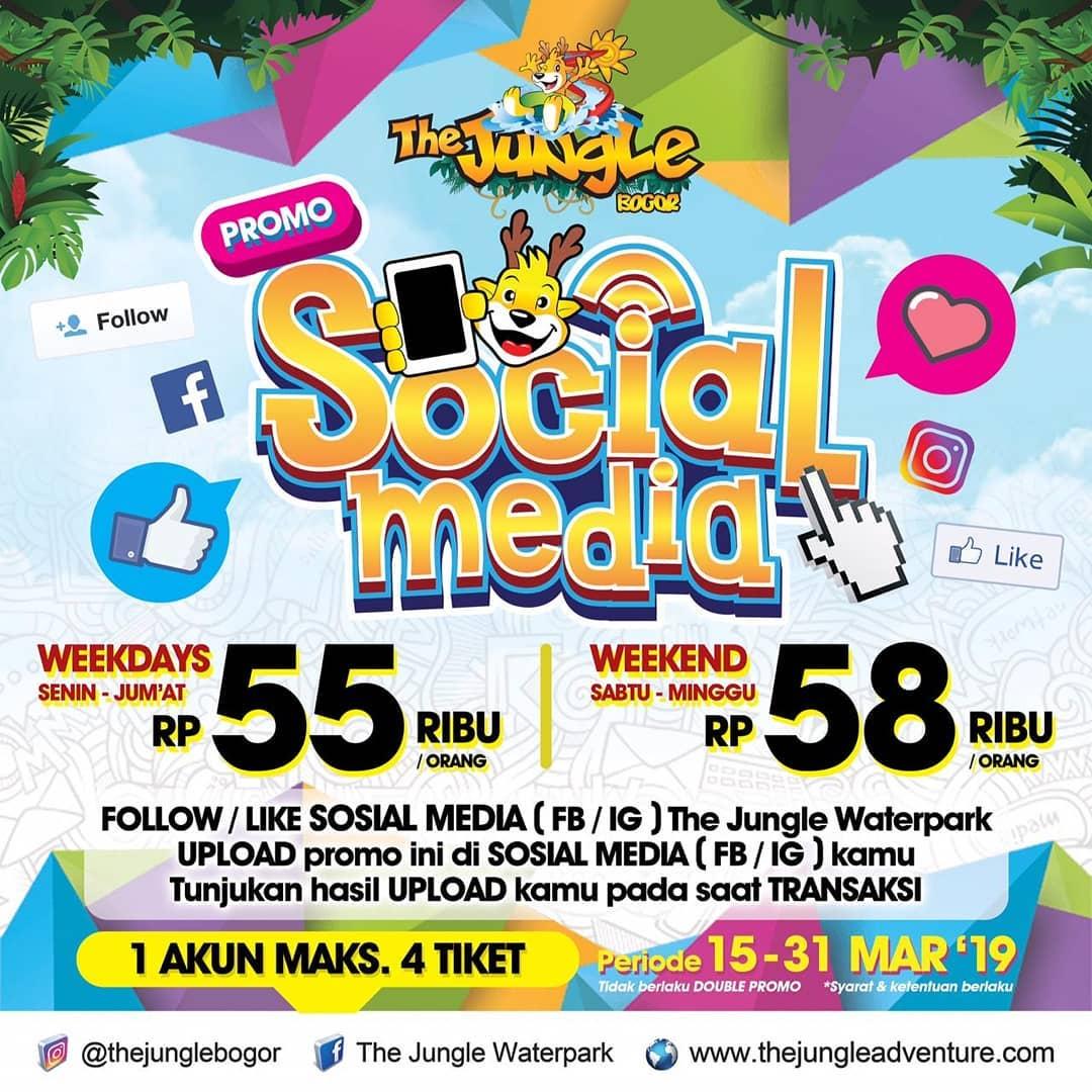 The Jungle Bogor Promo Medsos, Berenang Super Hemat Mulai Dari Rp. 55.000