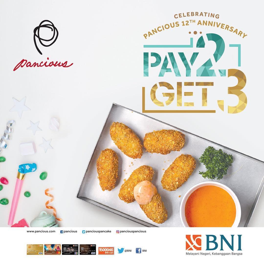 Pancious Restaurant Promo Spesial Beli 2 GRATIS 1 Menu Pilihan