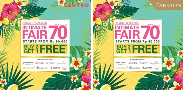 Centro dan Parkson Diskon up to 70%