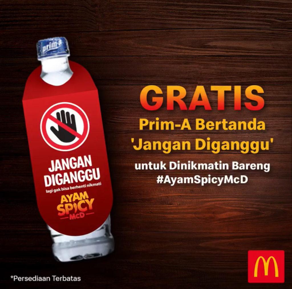 Diskon McDonalds Promo GRATIS Prim-a 600ml