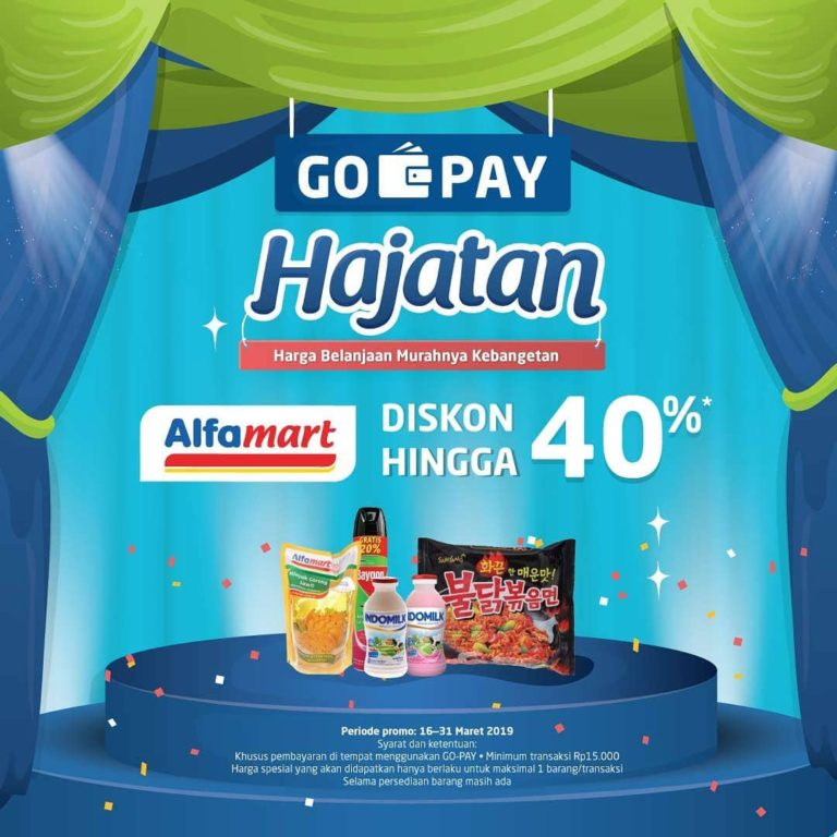 Diskon ALFAMART promo HAJATAN, Belanja Pakai GOPAY dapat Harga Spesial