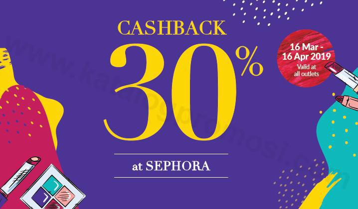 SEPHORA Promo Cashback 30%* dengan OVO
