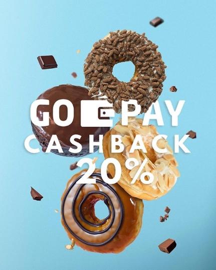 Diskon Dunkin Donuts PROMO GOPAY Cashback 20%