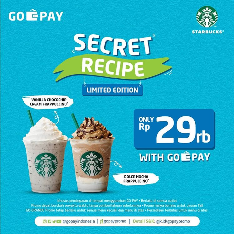 Diskon Starbucks SECRET RECIPE Limited Edition Cuma 29rb dengan GOPAY