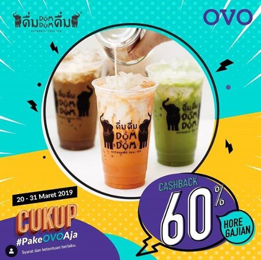 Diskon DUM DUM Promo Cashback 60% dengan OVO