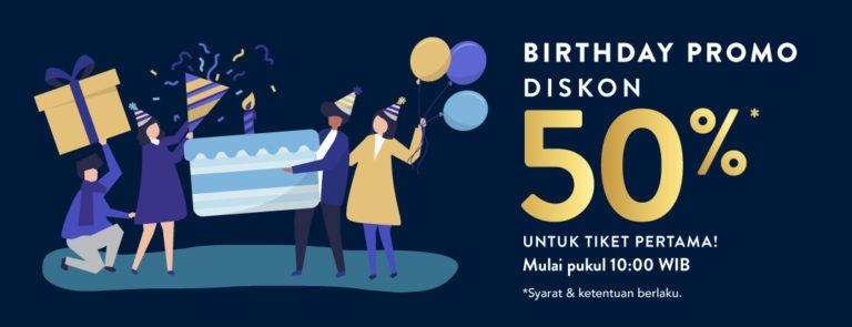 Diskon TIX.ID Birthday Promo! Diskon 50%!