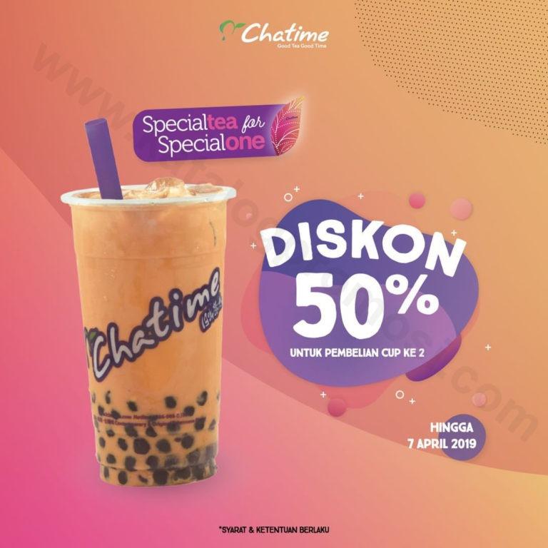 CHATIME Diskon 50% Pembelian Cup kedua