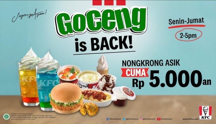 Diskon KFC Goceng is back! 5000 aja!