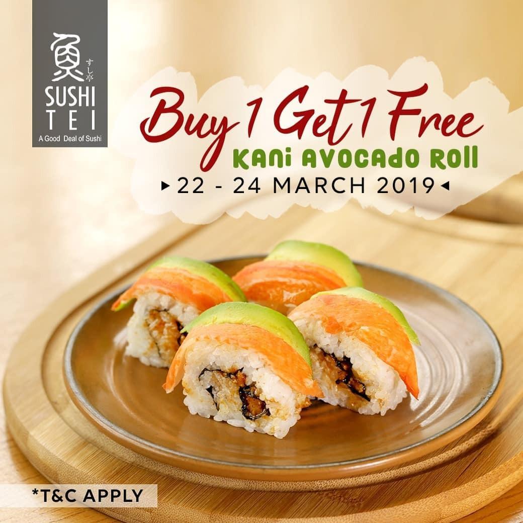 Sushi Tei Promo Spesial Opening Store, Beli 1 Gratis 1