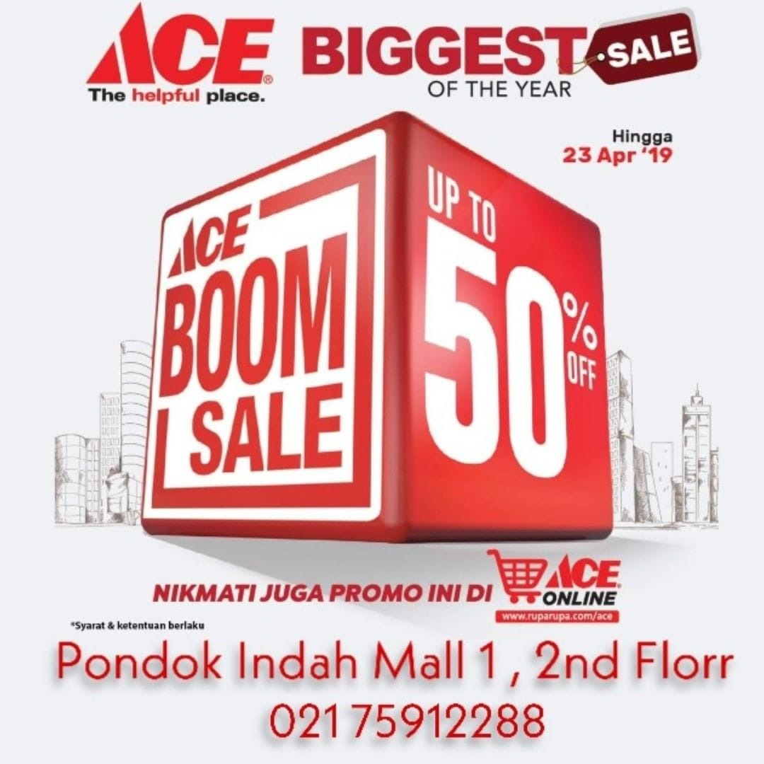 ACE HARDWARE Diskon 50%