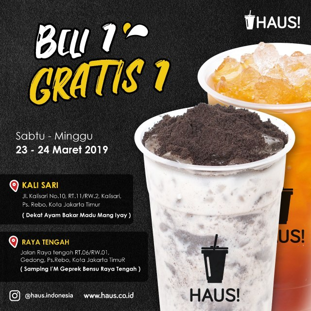 Promo buy 1 get 1 HAUS! Indonesia