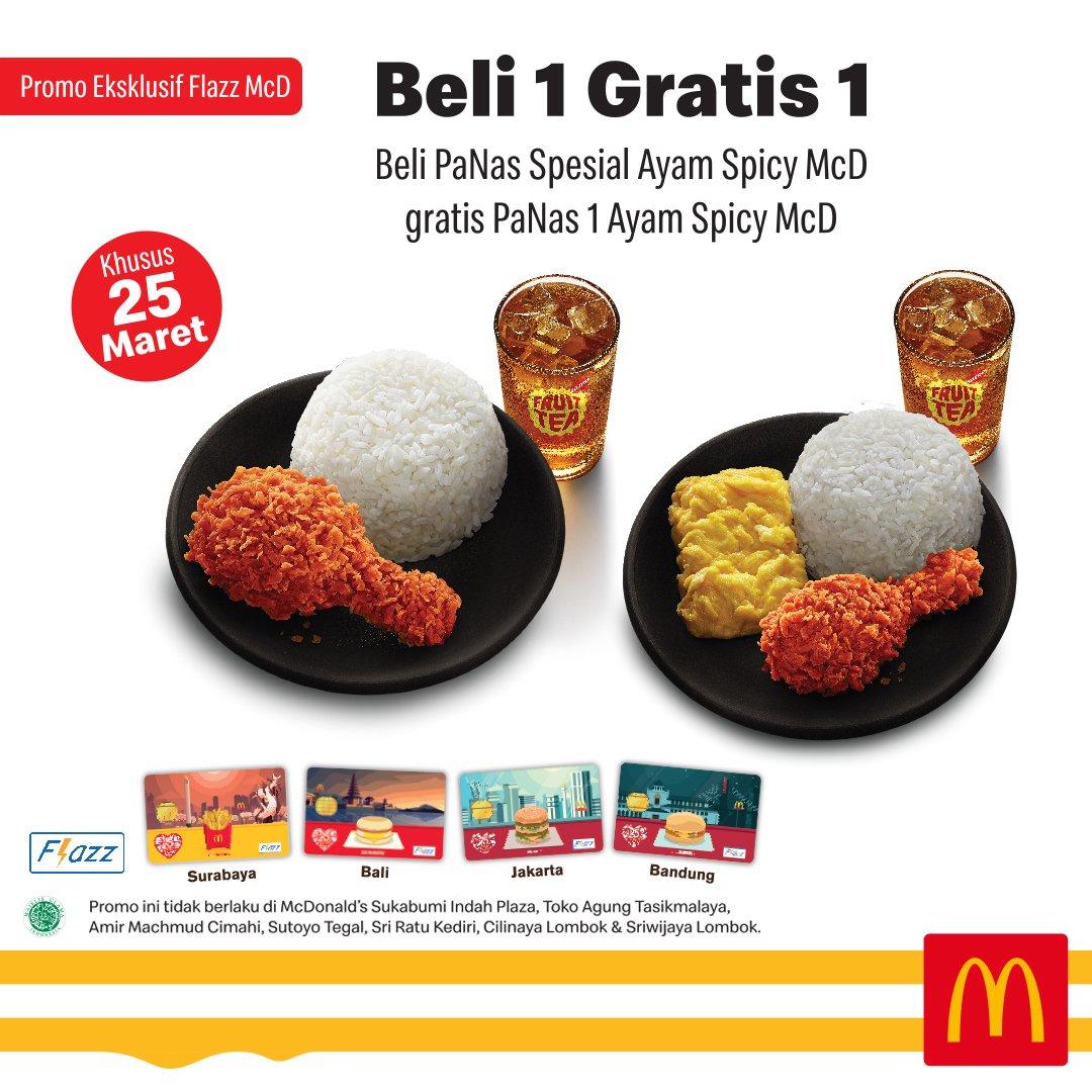 Diskon McDONALD'S GRATIS Paket PaNas 1 Ayam Spicy Mcd setiap pembelian Paket PaNas Spesial Ayam Spicy