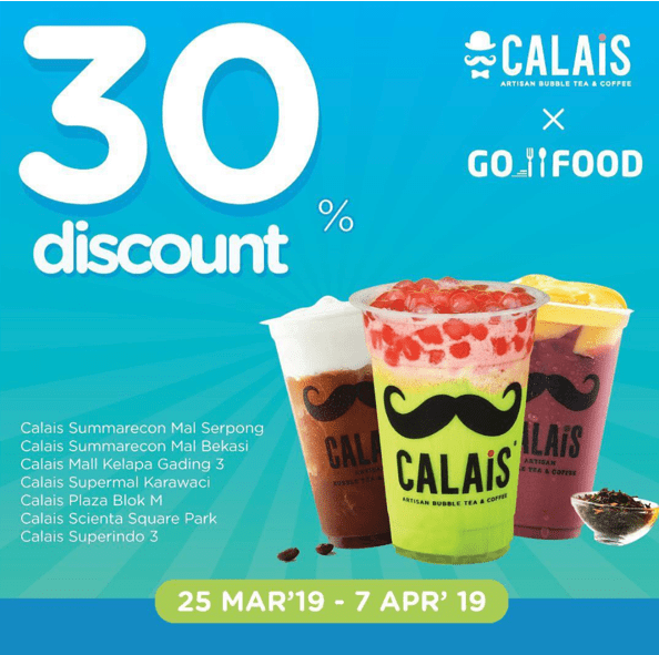 CALAIS TEA Promo HARGA SPESIAL DISKON 30% via GOFOOD