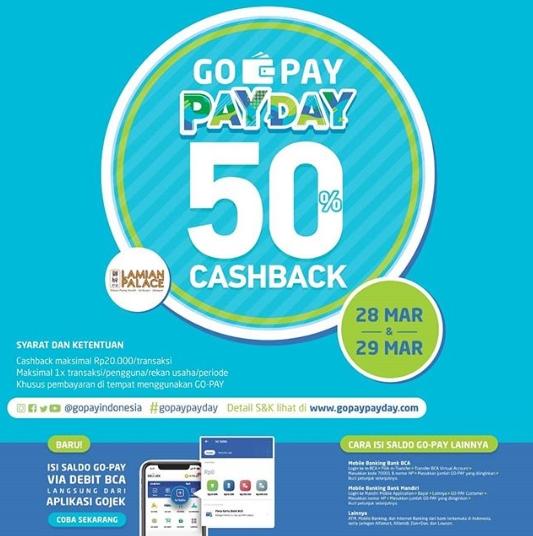 LAMIAN PALACE Promo GOPAY PAYDAY Cashback 50%