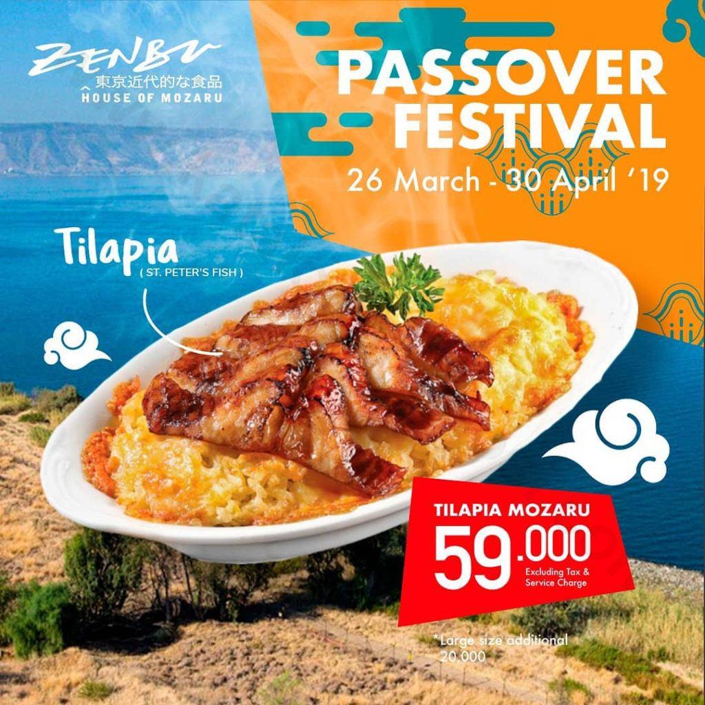 ZENBU RESTO Promo Passover Festival Tilapia Mozaru Rp 59.000