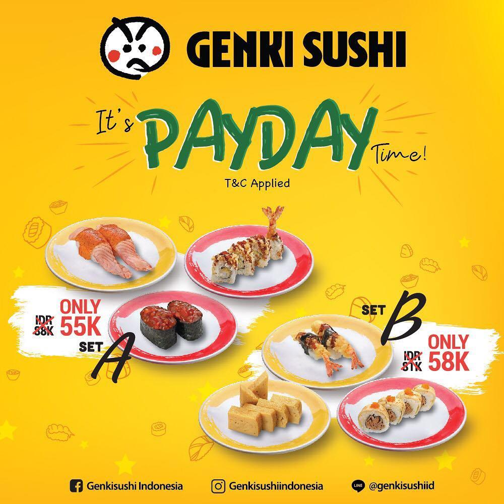 Genki Sushi Promo Makan Hemat Mulai Rp. 55 Ribuan