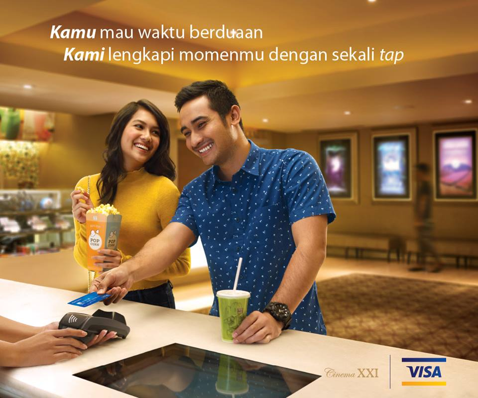 Cinema XXI Promo Spesial Visa Paywave, Buy 1 Get 1 Free & Gratis COMBO POPCORN