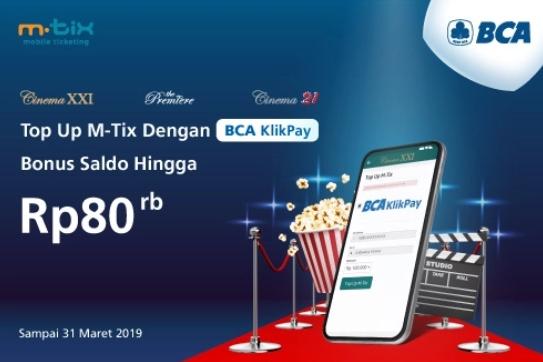 Cinema XXI Promo Top Up MTIX Langsung Dapat Bonus Saldo Rp. 80.000
