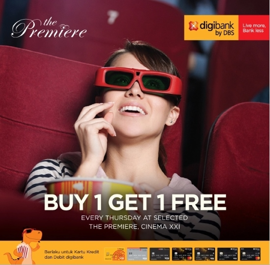 Cinema XXI Promo Spesial Buy 1 Get 1 The Premiere