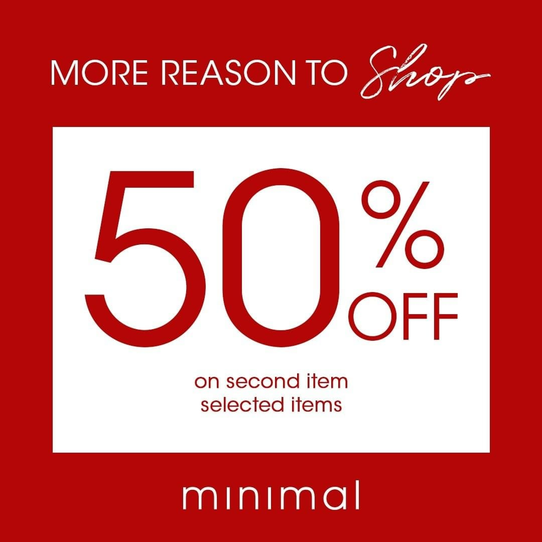 Minimal Clothing Mid Season Sale, DISKON Hingga 50%