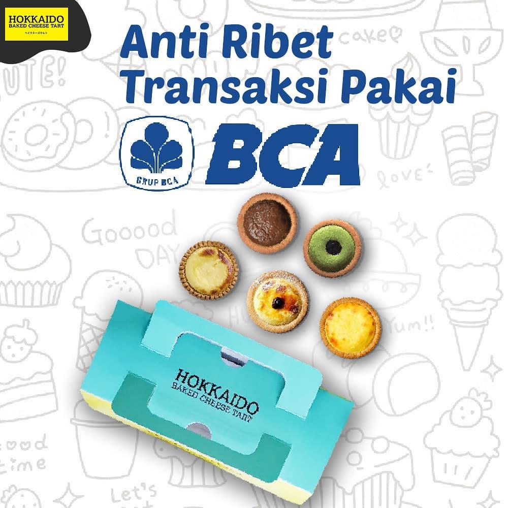 Hokkaido Baked Cheese Tart Promo Spesial BCA Card, Buy 2 Get 1 Free