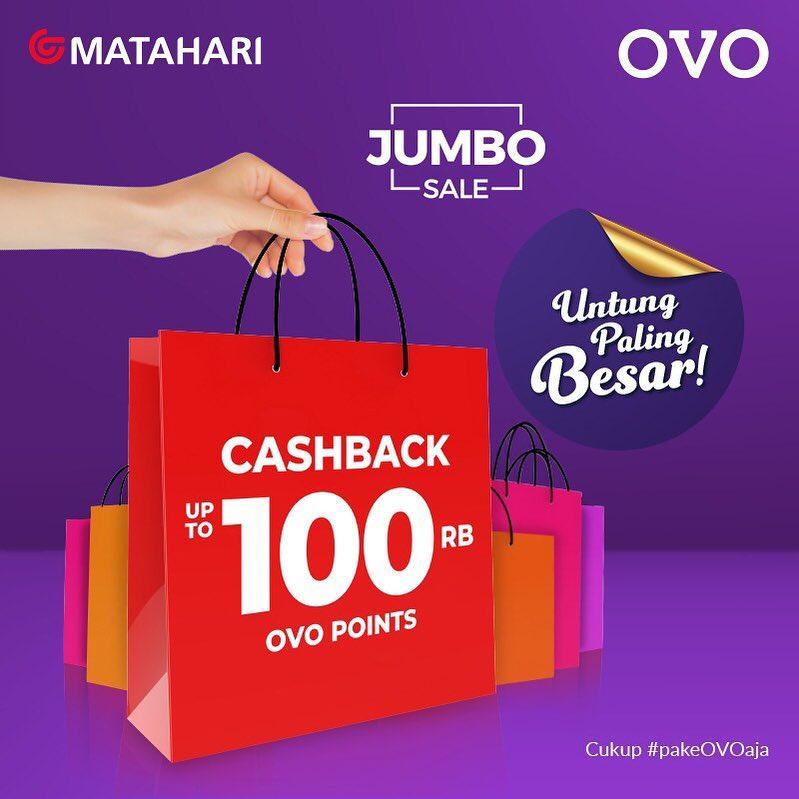 Diskon Matahari Department Store Promo Belanja Hemat Dengan CASHBACK Rp. 100.000