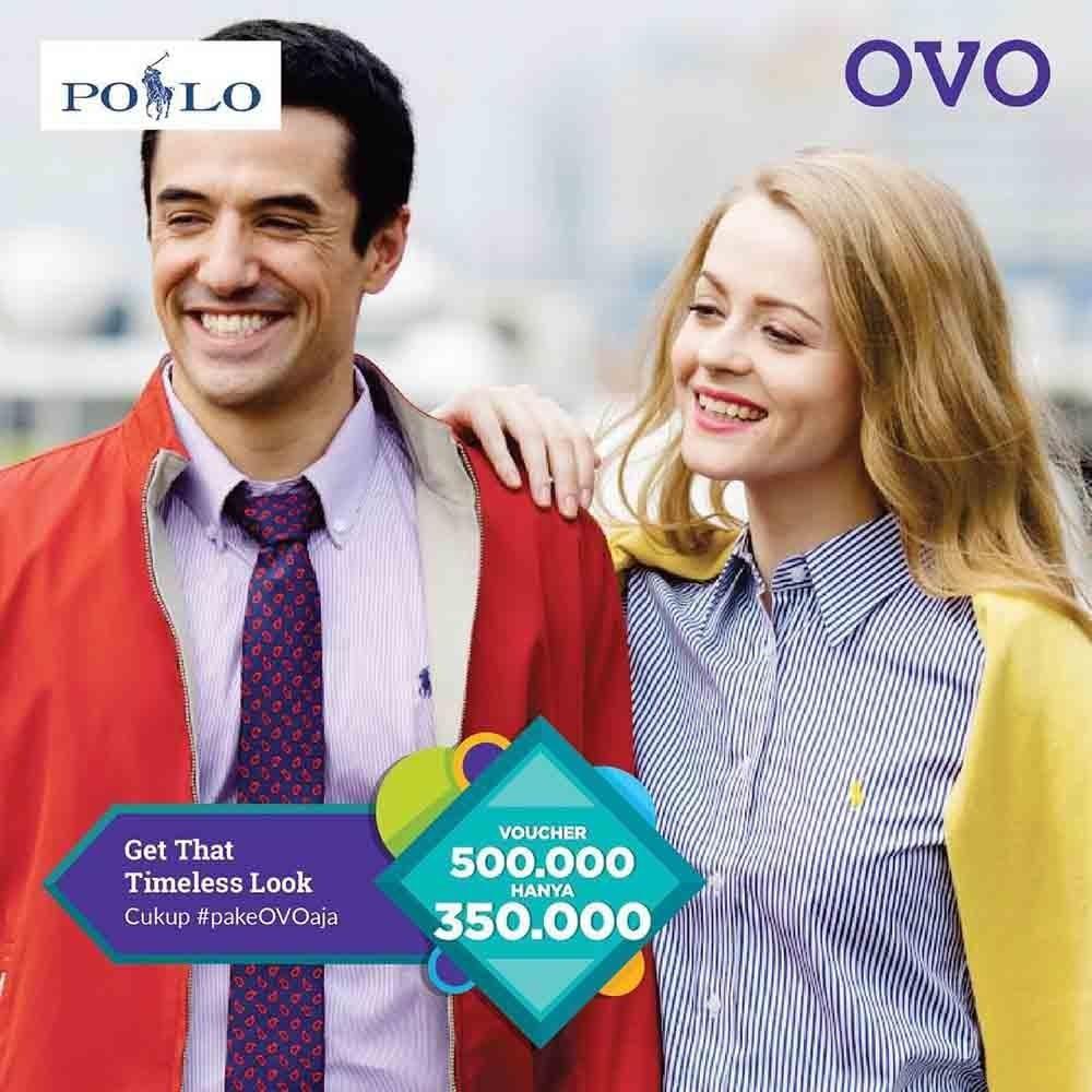 Diskon POLO RALPH LAUREN Promo Voucher Rp. 500.000 hanya Rp. 350.000 dengan OVO