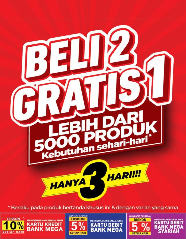CARREFOUR Promo BELI 2 GRATIS 1 LEBIH DARI 5000 Produk