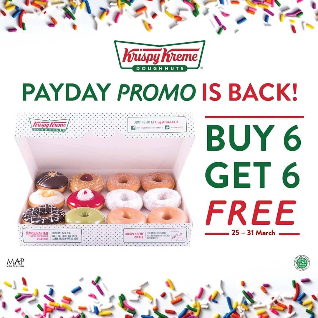 Krispy Kreme Payday Promo, Buy 6 Get 6 Free