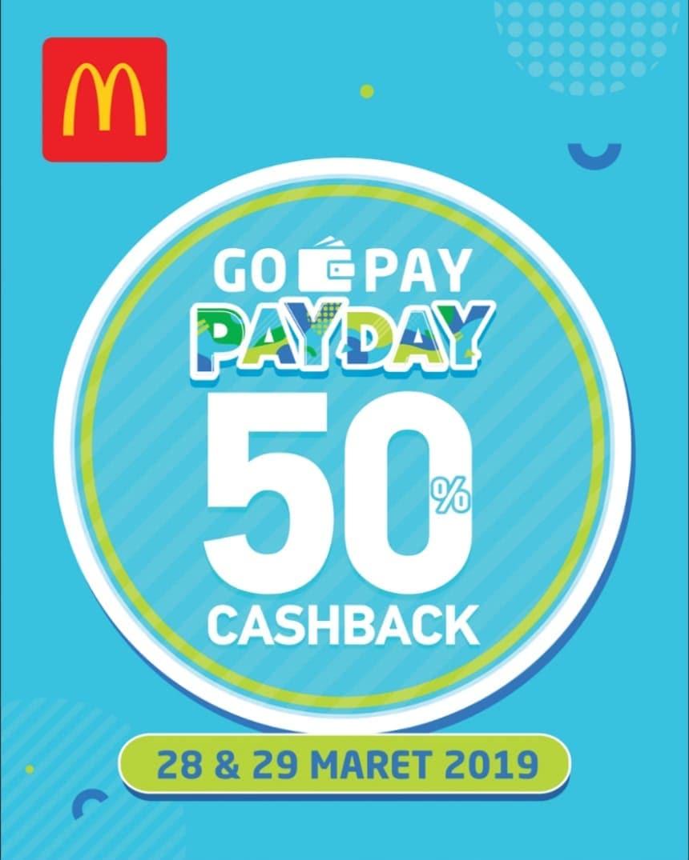 Diskon McDonalds Promo Spesial CASHBACK 50% Dengan GOPAY