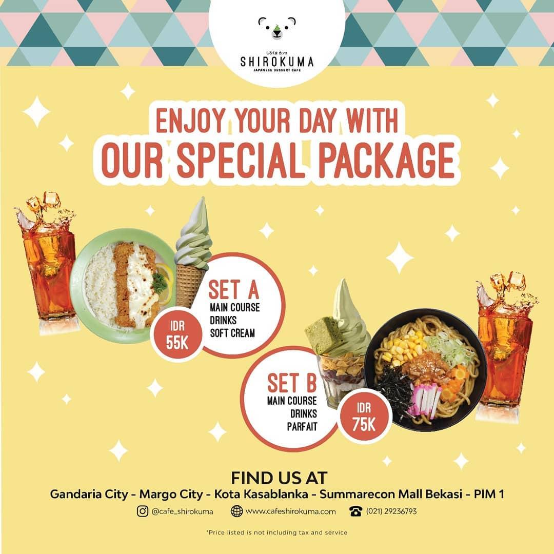 Cafe Shirokuma Promo Special Package, Harga Mulai Rp. 55 Ribuan