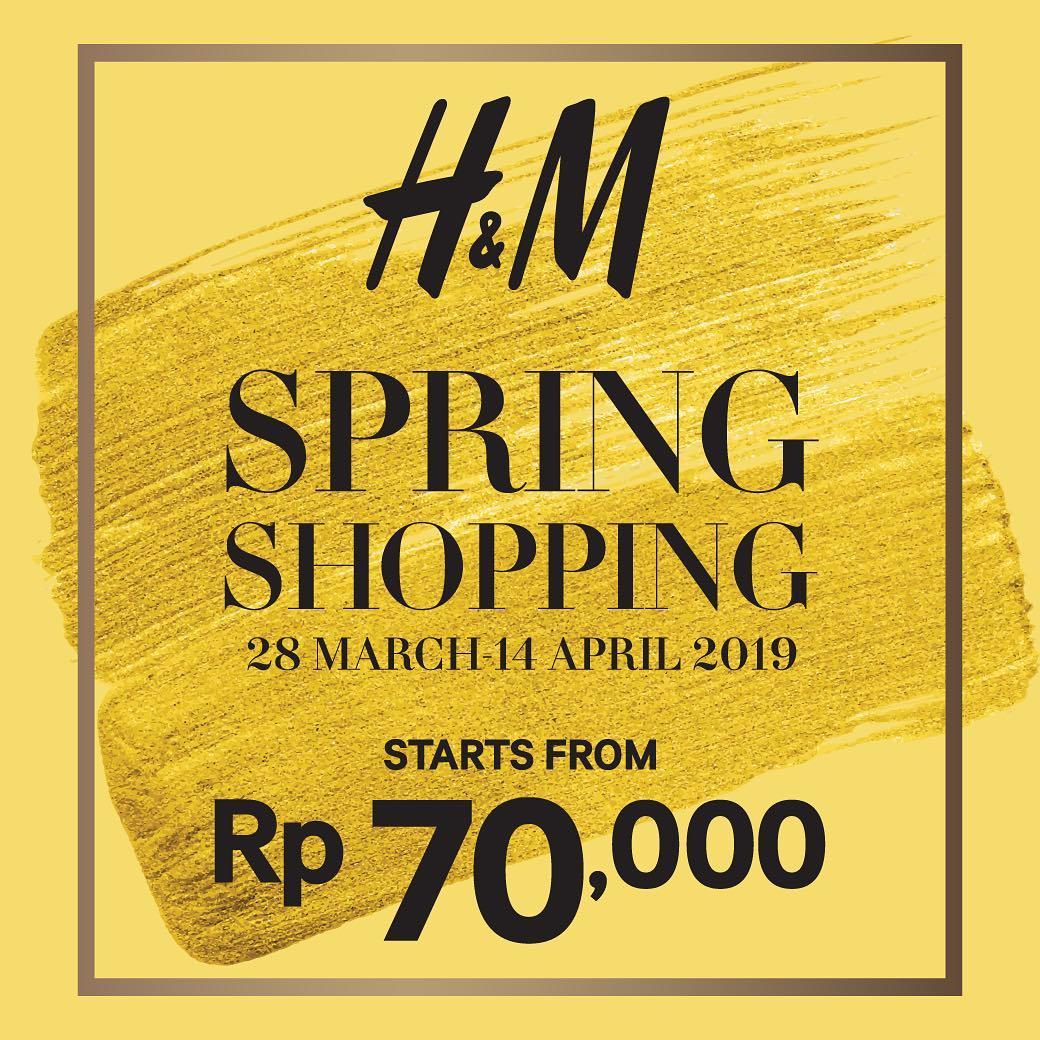 Diskon H&M Fashion Spring Shopping Sale, HARGA MULAI DARI Rp. 70.000