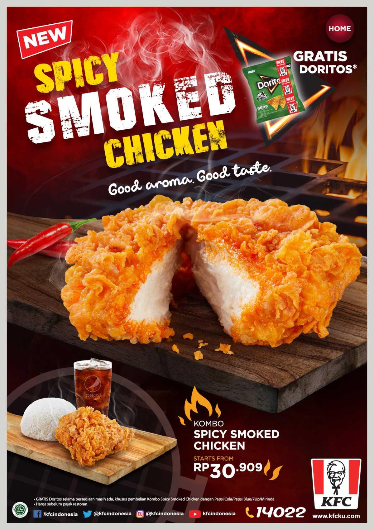 KFC NEW SPICY SMOKED CHICKEN – Harga mulai Rp. 30.909