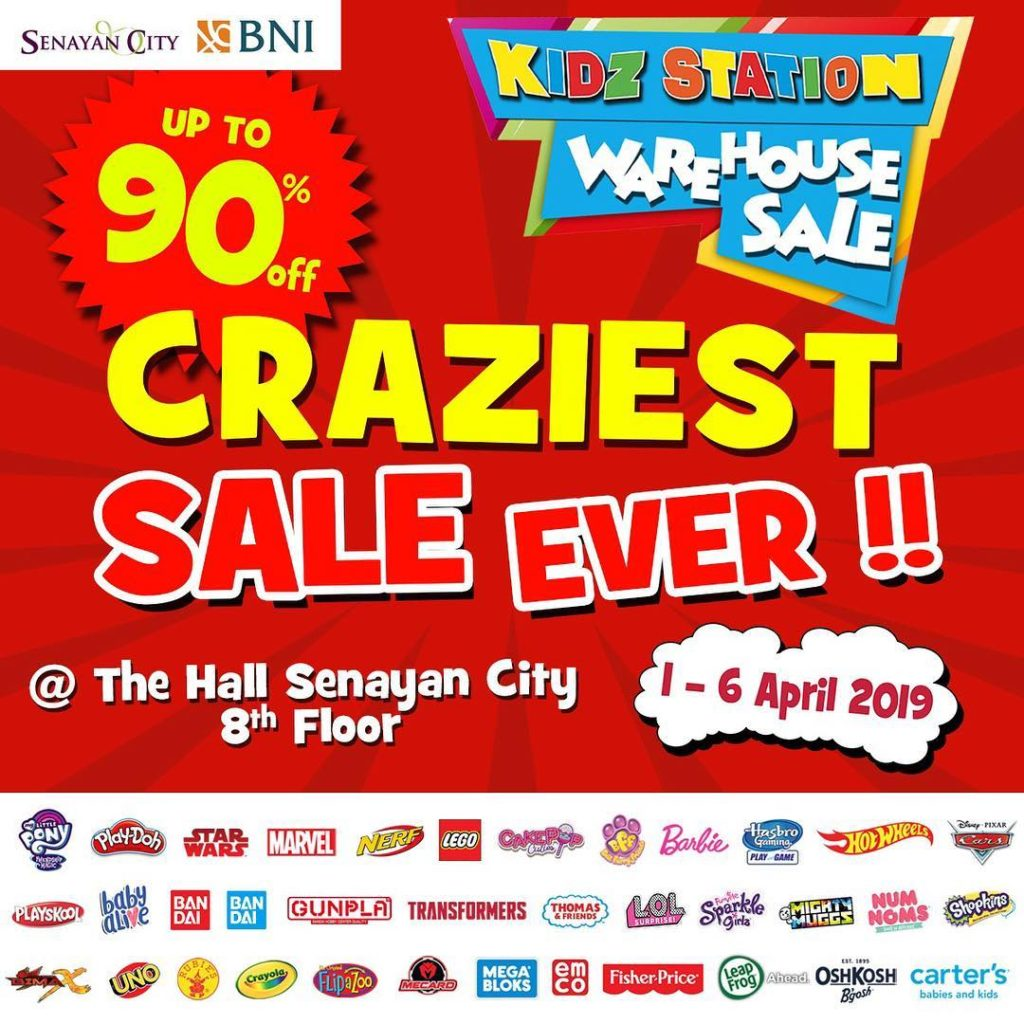 Diskon KIDZ STATION Warehouse Sale – Discount up to 90% off di Senayan City