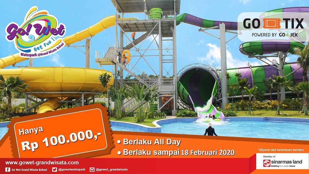 Diskon Go Wet Waterpark Promo Harga Spesial Tiket Masuk Cuma Rp. 100.000