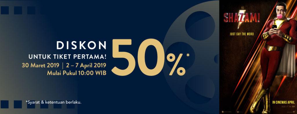 TIX.ID Promo Diskon 50% Untuk Tiket Pertama Nonton Film Shazam!