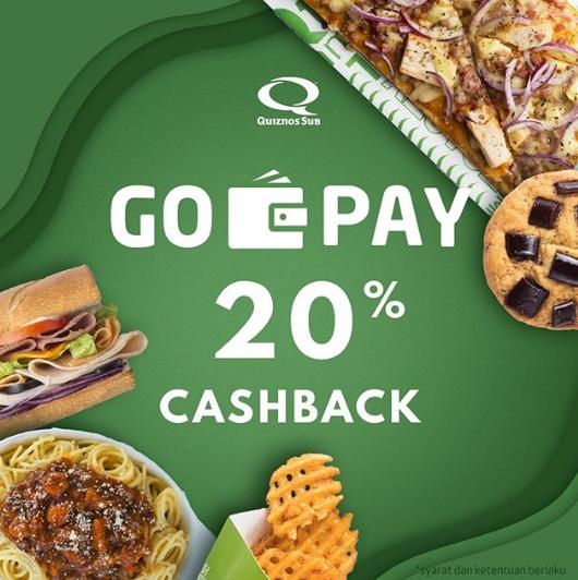 Quiznos Promo Cashback 20% Pakai GOPAY