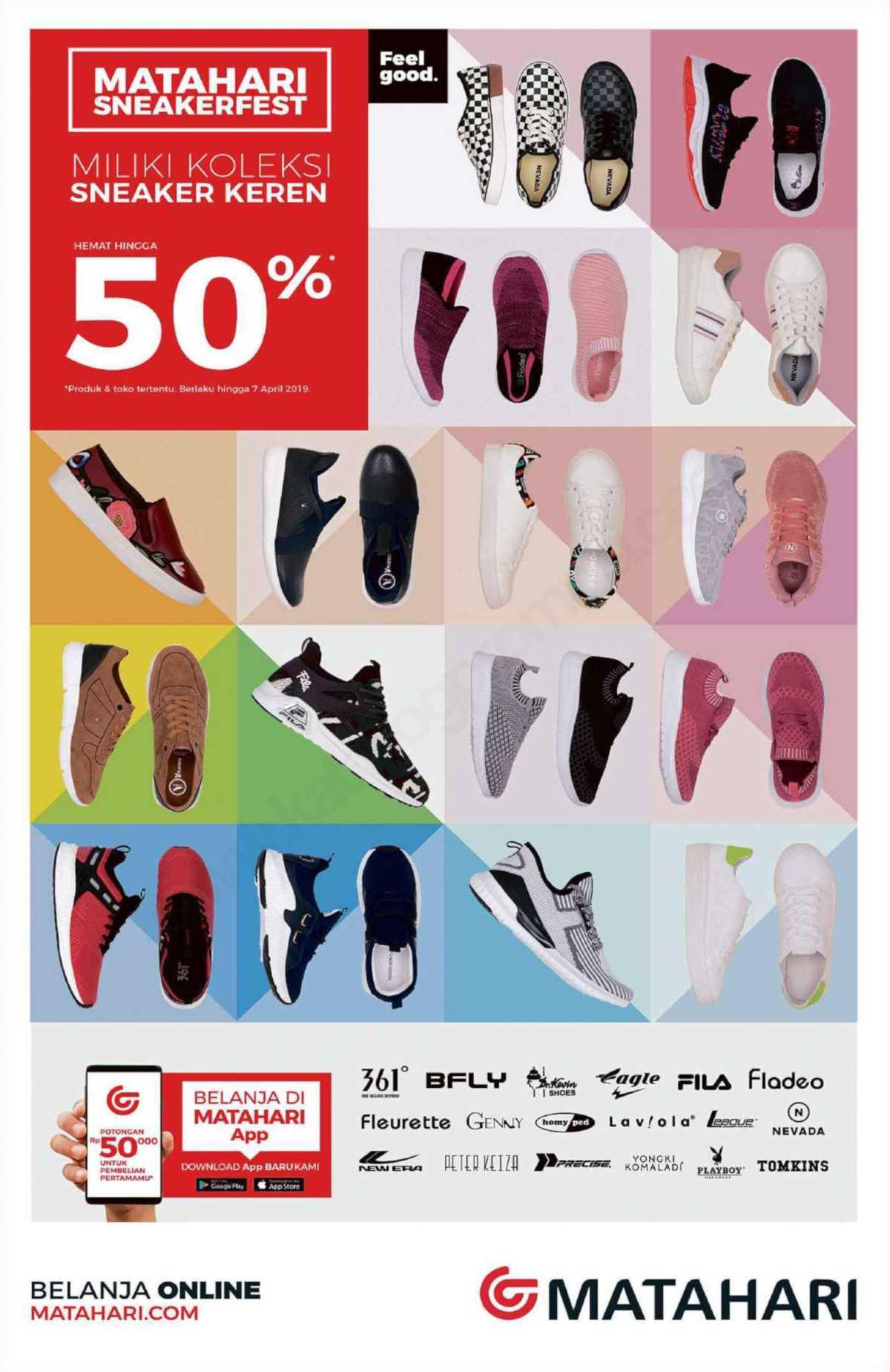 Diskon MATAHARI Department Store KOLEKSI Sneakers Keren – HEMAT HINGGA 50%