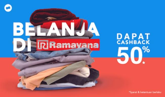 Ramayana Department Store Promo Cashback 50% Dengan DANA