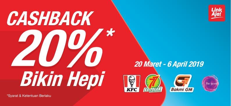 LinkAja Promo Spesial Cashback Di KFC, Es Teler 77, Bakmi GM Dan Re-Juve