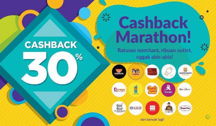 OVO Promo Cashback Marathon, Cashback 30%