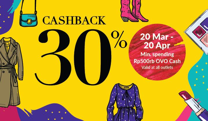 Diskon OVO Promo Fashion Fascination Sale, Cashback 30%